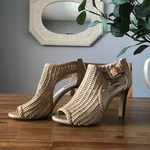 Gorgeous Woven Peep Toe Heels